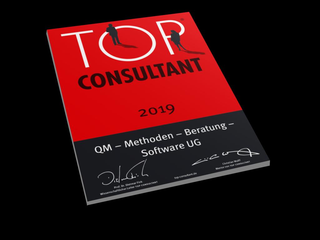 Top Consultant 2019 Urkunde