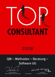 Urkunde TOP Consultant 2019