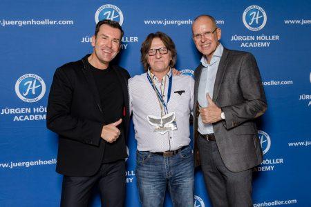 Stephan Johne mit Jürgen Höller und Mike Dierssen